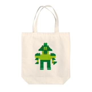 ロボロボ(緑) Tote bags