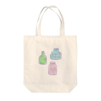 夏にどうぞ 瓶集め Tote bags