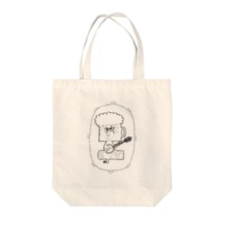 バンジョービールマン Tote bags