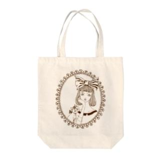 トシダナルホの頬杖ガール Tote bags