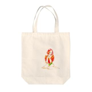 【花園シリーズ】チューリップたん Tote bags