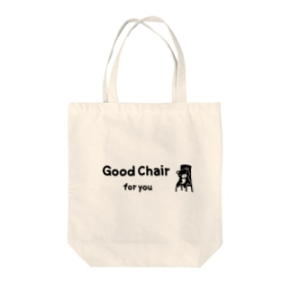 Good chair for you (ライン) Tote bags