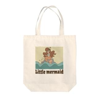 Little mermaid Tote bags
