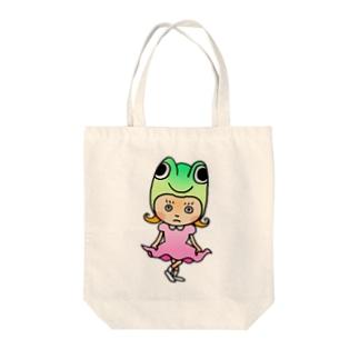 ゲコちゃん Tote bags