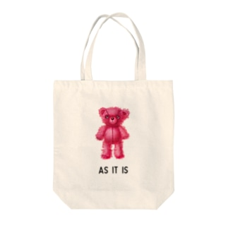 【As it is】(桃くま) Tote bags