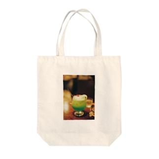 きらきらクリームソーダ Tote bags