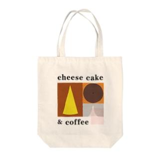 チーズケーキとコーヒー Tote bags