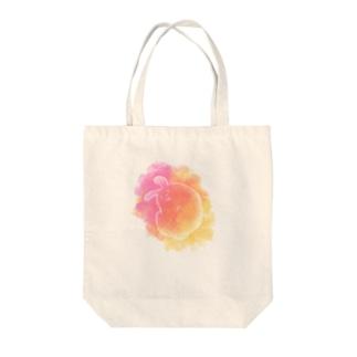 うさぎ(暖色) Tote bags