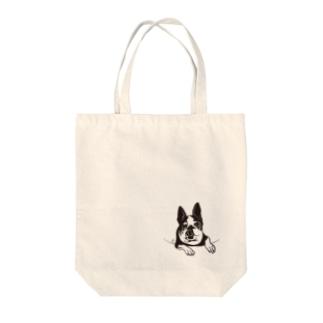 ポピりん Tote bags