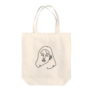 一筆書き woman Tote bags