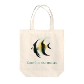 Zanclus cornutus Tote bags
