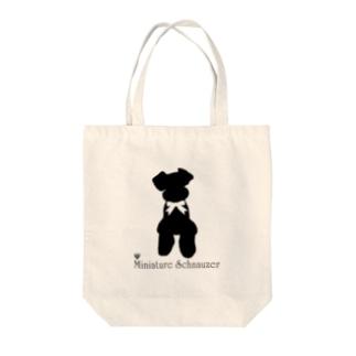 シュナシルエット Tote bags