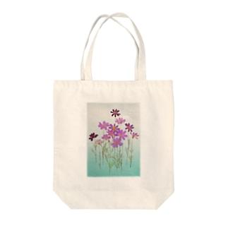 押し花 Tote bags