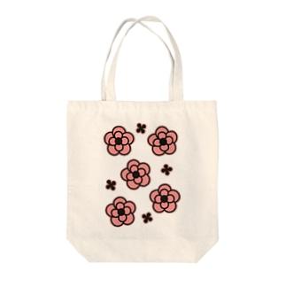 椿PINK Tote bags