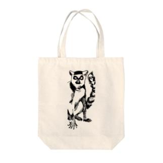 ワオキツネザルのサリー Tote bags