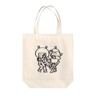 宇宙人パピプペポ Tote bags