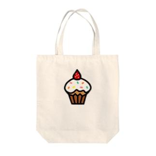イチゴのカップケーキ Tote bags