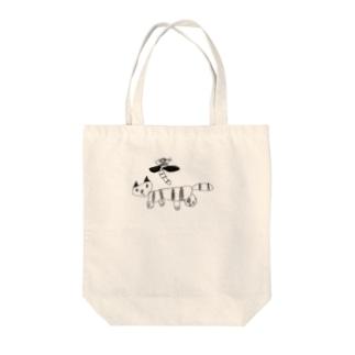 ぬん Tote bags