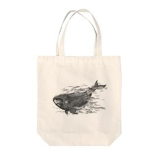 セミクジラ Tote bags