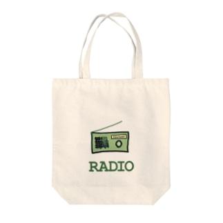 ラヂオ Tote bags