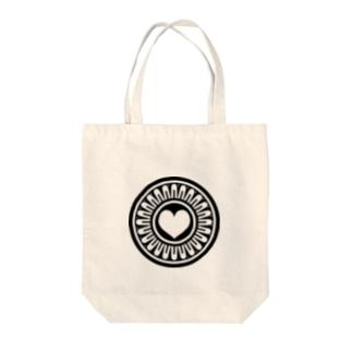 ハートピンズ Tote bags