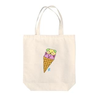 わんにゃんアイス Tote bags