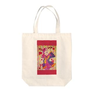 ミラクルラビット Tote bags