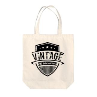MLF-Vintage Emblemシリーズ-blackロゴ Tote bags