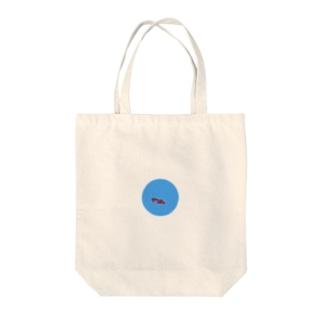 青すぎる池と恋 Tote bags