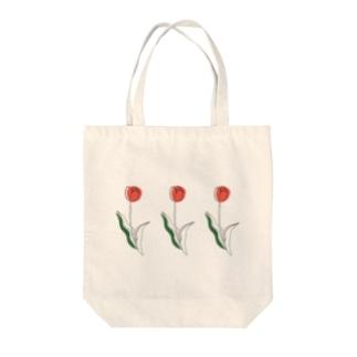 春のチューリップ Tote bags