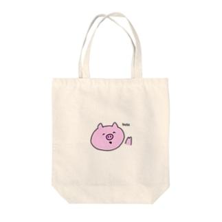 ぶたさん Tote bags