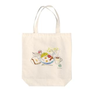 朝ご飯だよ!~トースト派編~ Tote bags