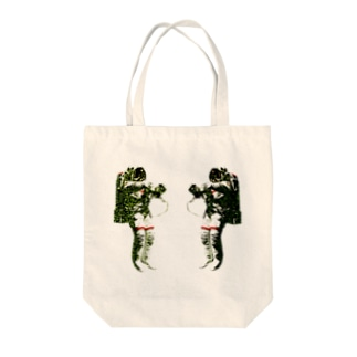 Face to Face Tote bags