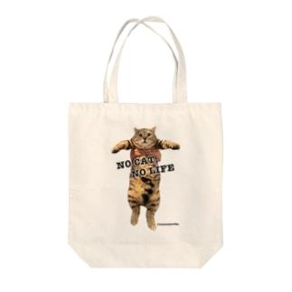 NO CAT, NO LIFE - 大 Tote bags