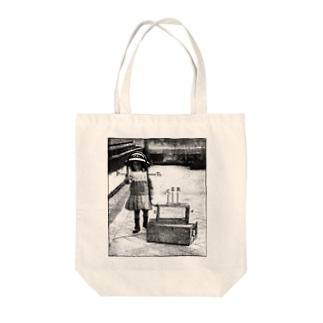 もしもし Tote bags