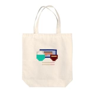 8bit朝食(鮭) Tote bags