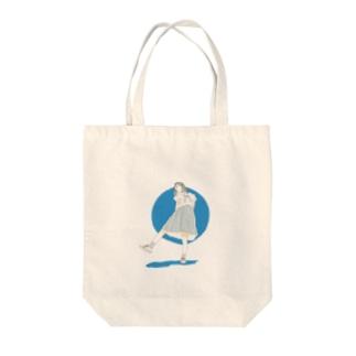 夏の女子高生 Tote bags