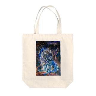 青炎龍Blue fire dragon Tote bags