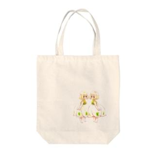 【花園シリーズ】スノーフレークついんず Tote bags