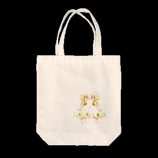 はみだし みゆきの【花園シリーズ】スノーフレークついんず Tote bags