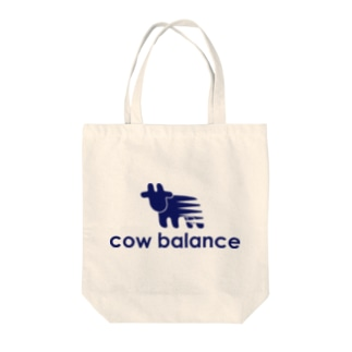 cow balance(blue) Tote bags