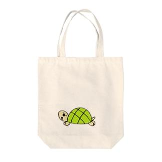 gentle turtle Tote bags
