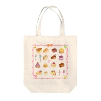 ケーキセット Tote bags
