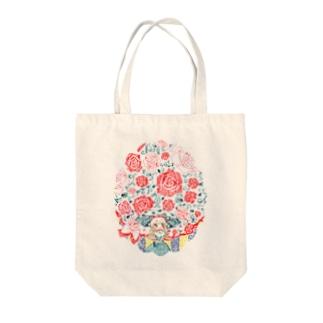 薔薇降りアリス Tote bags