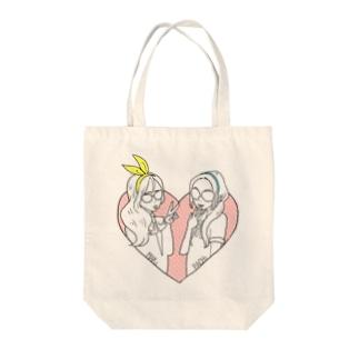 まきことぱちこ Tote bags