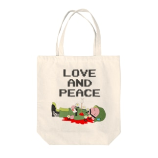 LOVE AND PEACE Tote bags