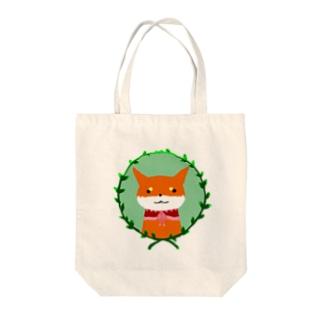 浅木愁太@LINEスタンプ販売中の柴犬の少女(赤柴) Tote bags
