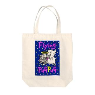 Flying PuGPuG Tote bags