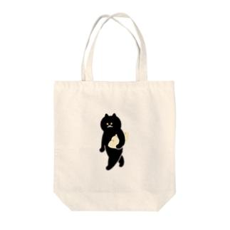 餃子をMacBookのように持ち運ぶ猫 Tote bags