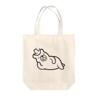 ごろねくま Tote bags
